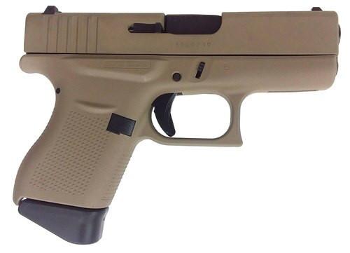 """Glock G43, 9mm, 3.41"""" Barrel, 6rd, Desert Sand"""