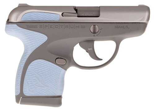 "Taurus Spectrum, .380 ACP, 2.8"" Barrel, 6rd, Gray Frame, Serenity Grips and Stainless Slide"