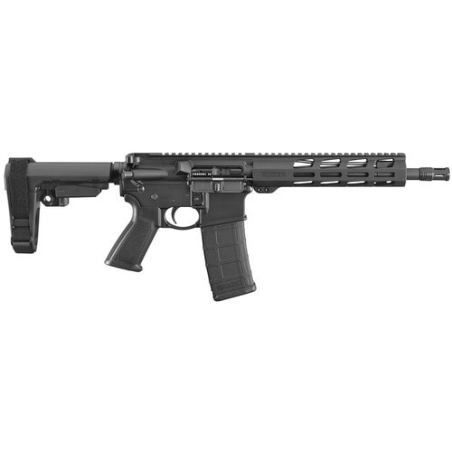 "Ruger AR-556 AR-15 Pistol 223/556mm, 10.5"" Barrel, Black, SBA3 Brace, 30rd"