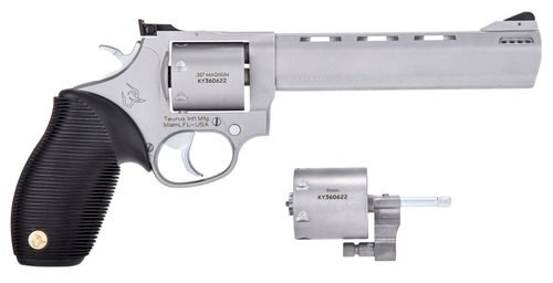 "Taurus 692 Standard Revolver Set, .357 Mag / .38 Special / 9mm, 6.5"" Barrel, 9mm Cylinder, 7rd, SS Finish"