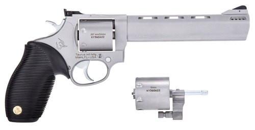 "Taurus 692 Standard Revolver Set, .357 Mag / .38 Special / 9mm, 6.5"" Barrel, 9mm Cylinder, 7rd, SS Finish"