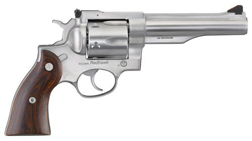 "Ruger Redhawk, .44 Mag, 5.5"" Barrel, 6rd, Satin Stainless, Wood Grips"