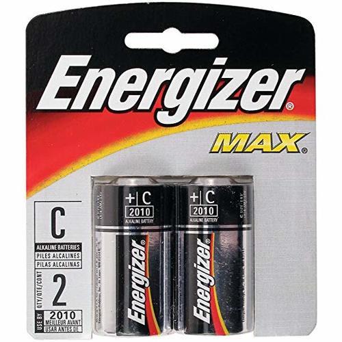 Energizer Max Batteries C, 2 Pack