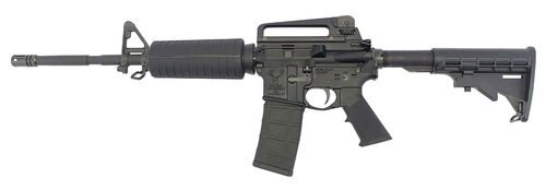 "Stag Arms Stag 15 M4, .223/5.56, 16"" Barrel, 30rd, 6-Position Stock, Left-Handed, Black"