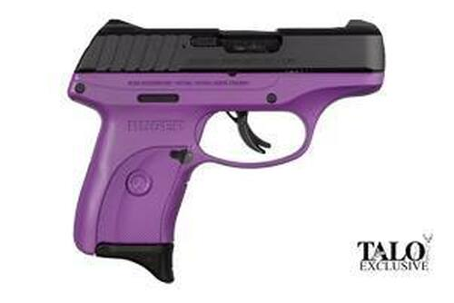"Ruger EC9S Purple Cerakote Compact, 9MM, 3.1"" Barrel Thumb Safety, Fixed Sights 7rd Mag TALO"