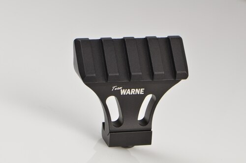 Warne Picatinny Side Mount Adapter, 45 Degree, Black, MSR Rail Mount for Picatinny Rail/Flat Top MSR