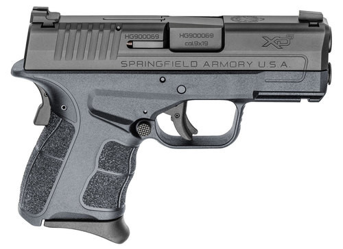"""Springfield XDE Compact 9MM 4.5"""" Barrel, Polymer Frame, Black, 2 Mags, 1-8Rd, 1-9Rd, Ambi Safety, Decocker"""
