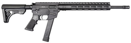 "Freedom Ordnance FX9 9mm, 16"" Barrel, Black, Plastic Grip, Uses Glock Style Magazines, 1 Mag, 31Rd"