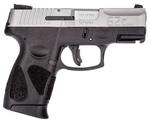 "Taurus G2c, 9mm, 3.25"" Barrel, 10rd, Black Frame, Stainless Steel Slide"