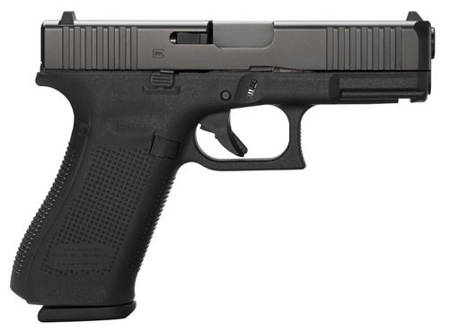 """Glock G45, 9mm, 4.02"""" Barrel, 10rd, AmeriGlo FS, Black Frame, Black nDLC Slide"""