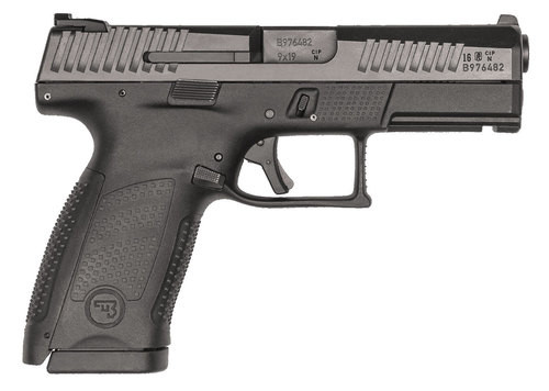 "CZ, P-10, 9mm, 4"" Barrel, Polymer Frame And Grips, Trigger Safety, Compact, Semi-automatic, 3 Dot Sights, Striker Fired, 10Rd, Black"