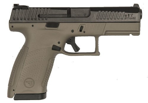 "CZ P-10 C, 9mm, 4"" Barrel, 10rd, Night Sights, Flat Dark Earth"