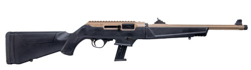 "Ruger PC Carbine Flat Dark Earth 9mm Take Down, 16"" Barrel, Ruger & Glock Mag Adapter, 17rd Mag"