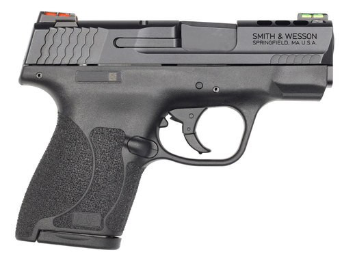 "Smith & Wesson M&P Shield M2.0 40 S&W, 3.1"", 7rd, HiViz Fiber Optic Sights, Black"