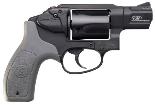 "Smith & Wesson 638 Bodyguard 38 Special Crimson Trace, .38 Special +P, 1.875"" Barrel, 5rd, Gray Grips, Black Frame/Cylinder"
