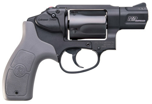 "Smith & Wesson 638 Bodyguard 38 Special Crimson Trace MA Compliant, .38 Special +P, 1.875"", 5rd, Gray Grips, Black Frame/Cylinder"