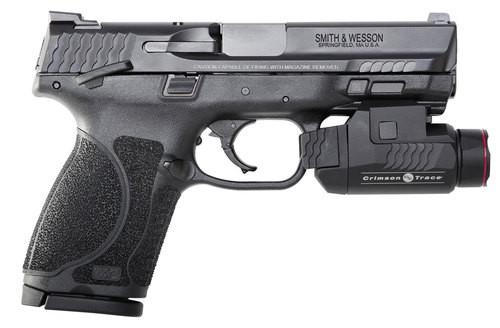"Smith & Wesson M&P M2.0 Compact, 9mm, 4"", 15rd, Crimson Trace Rail Master, Black"