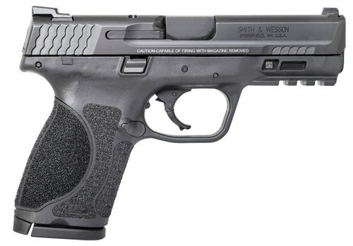 """Smith & Wesson M&P M2.0 Compact, 9mm, 4"""" Barrel, 10rd, No Manual Safety, Black"""