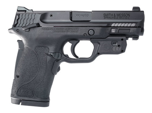 "Smith & Wesson M&P Shield EZ Crimson Trace Laserguard, .380 ACP, 3.675"", 8rd, Manual Safety, Black"