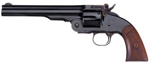 "Taylors Schofield Second Model 45 Colt, 7"" Barrel, 6rd, Blued, Walnut"