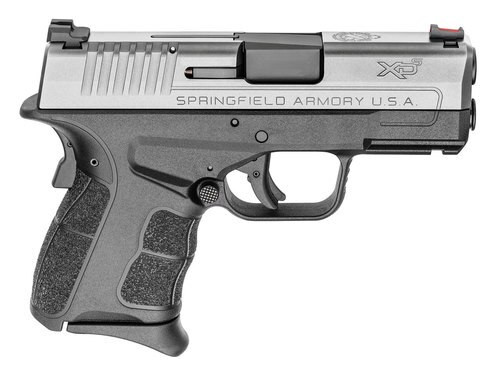 "Springfield XD-S Mod.2 45 ACP, 3.3"", Black Polymer Grip/Frame Stainless Steel Slide, 5rd"