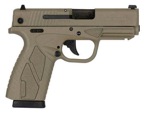 """Bersa, Conceal Carry, Compact, 9mm, 3.2"""" Barrel, Flat Dark Earth, Polymer Frame, Fixed Sights, 8Rd, 1 Magazine"""