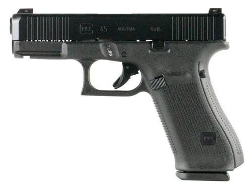 """Glock G45 Compact, 9mm, 4.02"""" Barrel, 10rd, FS, Black nDLC Slide, Black Frame"""