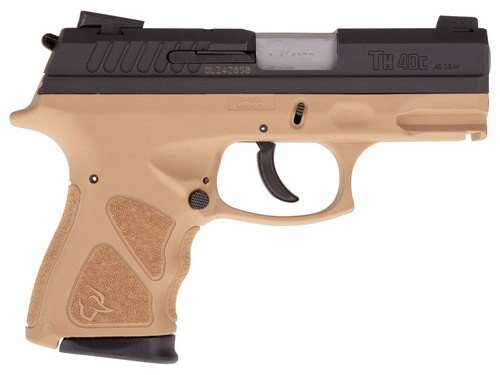 "Taurus TH40C, .40 S&W, 3.54"" Barrel, 15rd, Novak Sights, Flat Dark Earth Frame, Black Slide"