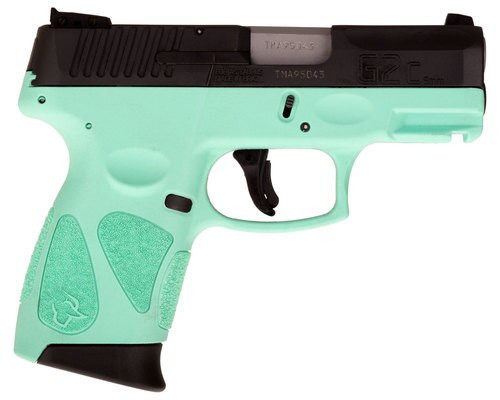 "Taurus G2C, 9mm, 3.25"" Barrel, 12rd, Contrast Sights, Cyan Frame, Black Slide"