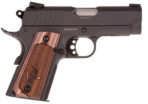 "Taurus 1911 Officer, 45 ACP, 3.5"" Barrel, 6rd, Novak Sights, Walnut Grips, Black"