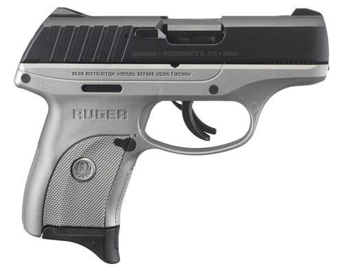 """Ruger EC9s, 9mm, 3.12"""" Barrel, 7rd, Fixed Sights, Gray Frame, Black Slide"""