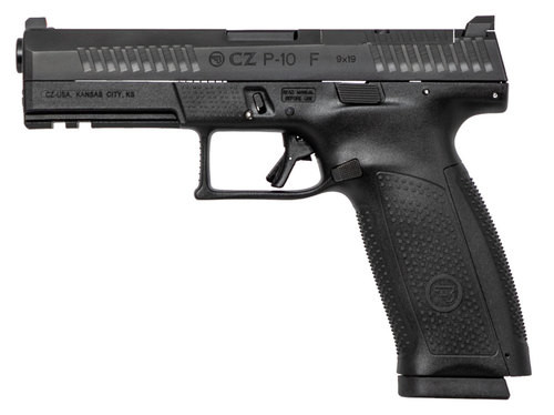 "CZ P-10 Full Size 9mm, 4.5"" Barrel, 19rd, Optics Ready, Black"