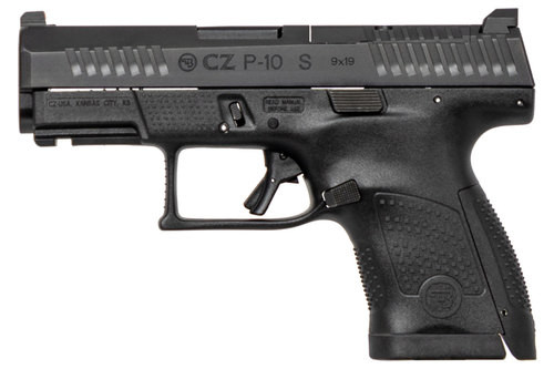 "CZ P-10 Sub-Compact, 9mm, 3.5"" Barrel, 12rd, Optics Ready, Black"