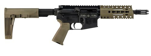 "Diamondback DB15, 7.62x39mm, 7"" Barrel, 28rd, Magpul MOE Grips, Flat Dark Earth"