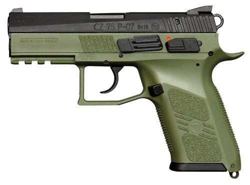"CZ P-07, 9mm, 3.75"" Barrel, 10rd, Tritium Night Sights, OG Green"