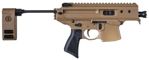 "Sig MPX Copperhead CO Compliant, 9mm, 3.5"" Barrel, 10rd,  Folding Pistol Brace, Coyote"