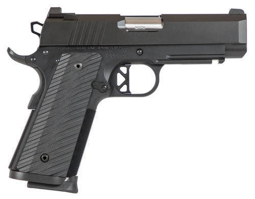 """Dan Wesson, TCP 9mm, Semi-automatic, 1911, Commander, 9mm, 4"""" Bull Barrel, Aluminum Frame, Black, G10 Grips, Holds 8Rds, 1913 Rail, Right Hand, 32oz, Thumb Safety, Brass Bead Front Sight, U-Notch Rear Sight"""