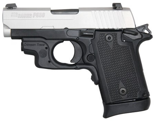 "Sig P938, 9mm, 3"" Barrel, 7rd, Crimson Trace Laser, Night Sights, Two-Tone"