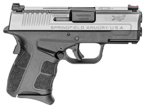"Springfield XD-S Mod.2 9mm, 3.3"" Barrel, Fiber Optic Sights, SS Slide, Black, 7rd"