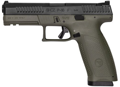 "CZ P-10 Full Size, 9mm, 4.5"" Barrel, 19rd, Night Sights, OD Green"