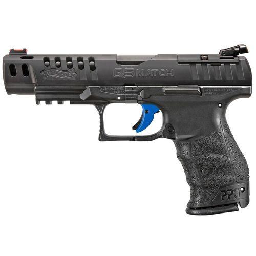 "Walther Q5 Match M1, 9mm, 5"" Barrel, 15rd, Ambidextrous, Black"