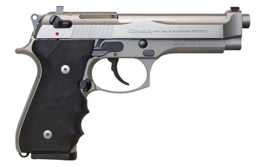 "Beretta 92FS Brigadier Inox SA/DA 9mm 4.9"" Barrel, Black Rubber Grip, 10rd"