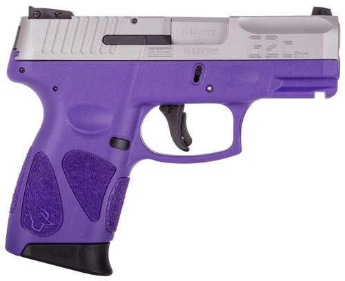 "Taurus G2c, 9mm, 3.25"" Barrel, 12rd, Dark Purple Frame, Stainless Steel Slide"
