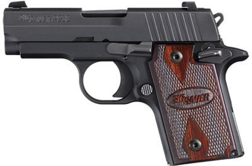 Sig P938 22LR Sub Compact Pistol Rosewood Grips, Night Sights
