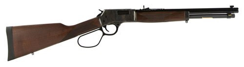 """Henry Repeating Arms, Big Boy Color Case Hardened, Lever Action, 357 Mag, .38 Special, 16.5"""" Octagon Blued Steel Barrel, Straight-grip American Walnut Stock, Fully Adjustable Semi-Buckhorn Sights, 7Rd, Large Loop"""