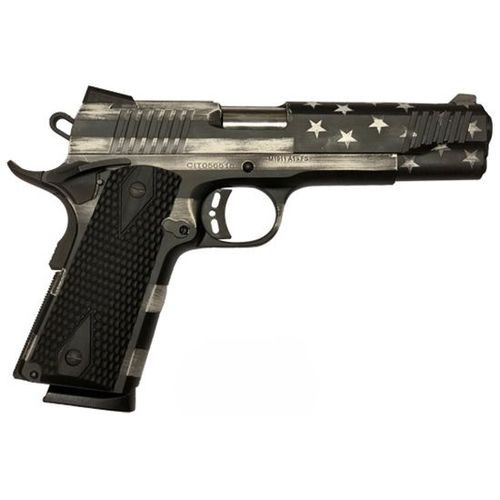 "Citadel 1911-A1, 45 ACP, 5"" Barrel, 8rd, Battleworn Gray USA Flag"