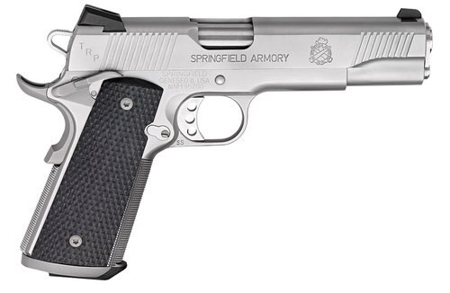 "Springfield 1911 TRP, CA Compliant, 45 ACP, 5"" Barrel, 7rd, Stainless Steel"