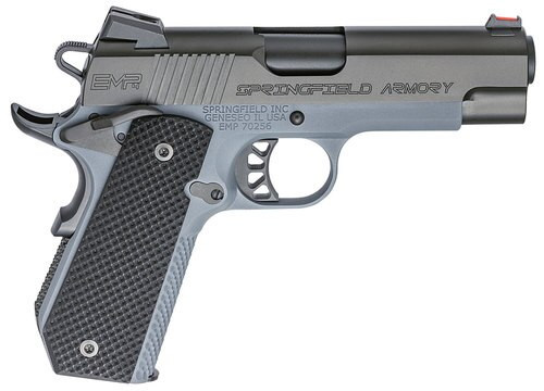 "Springfield 1911 EMP Concealed Carry, 9mm, 4"" Barrel, 9rd, Gray"