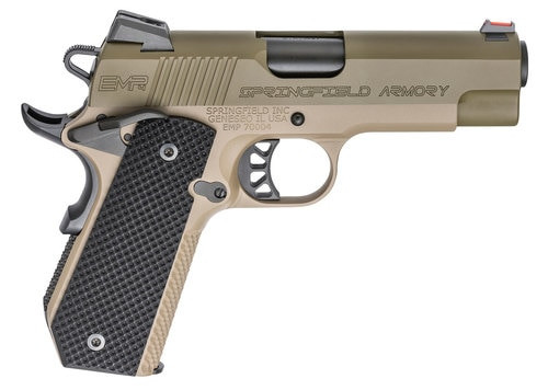 "Springfield 1911 EMP Conceal Carry, 9mm, 4"" Barrel, 9rd, Flat Dark Earth"