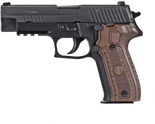 "Sig P226, 9mm, 4.4"" Barrel, 10rd, Brown G10 Grips, Black"